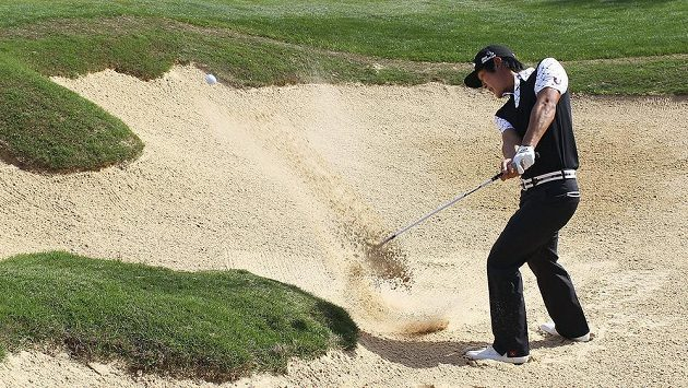 Golfista Danny Lee na turnaji Valero Texas Open.