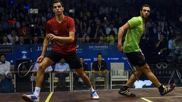 Egypťané Nur El Tajebová a Ali Farag (na snímku) vyhráli v jeden den squashové US Open a zapsali se do historie. Triumfovali totiž jako manželé.