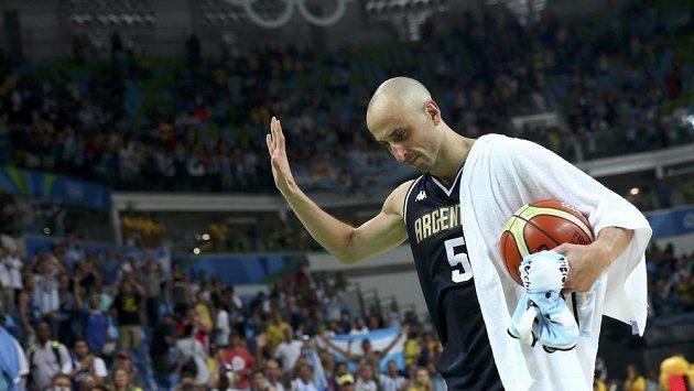 Argentinský basketbalista Manu Ginobili se loučí nejenom s olympijským turnajem, ale také s reprezentačním dresem.