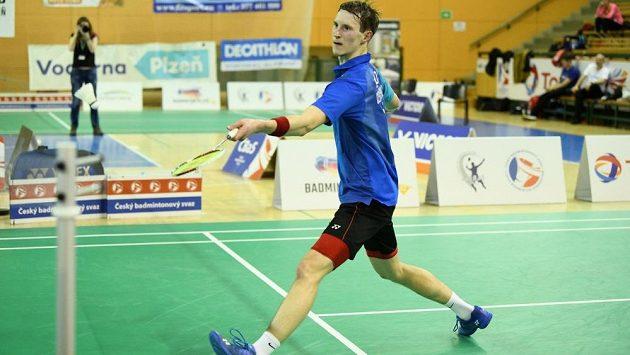 Badmintonový šampion Jan Louda v akci.