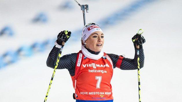 Dorothea Wiererová na archivním snímku ze závodů SP.
