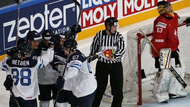 Finové se mohli po konci utkání radovat, porazili Švýcary.