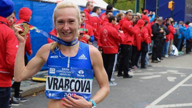 Eva Vrabcová Nývltová po maratonu v New Yorku.