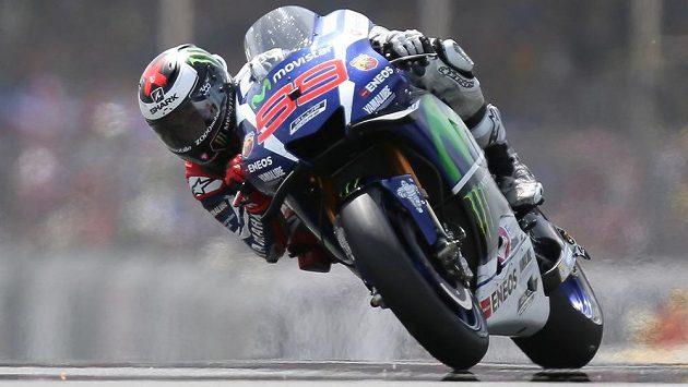 Španělský motocyklista Jorge Lorenzo během Velké ceny Francie v Le Mans.