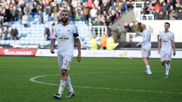 Kyle Bartley po nedávném vyřazení Swansea z FA Cupu.