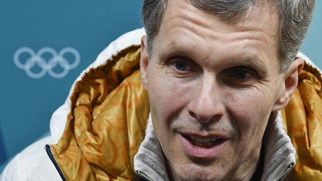 Předseda ČOV Jiří Kejval hovoří s novináři po svém zvolení členem Mezinárodního olympijského výboru. Padesátiletý funkcionář se stal sedmým českým či československým členem výboru.