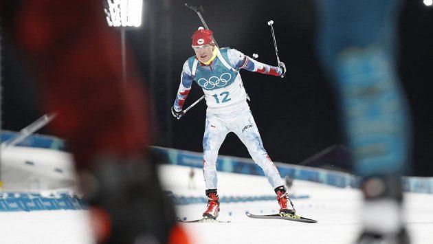 Ondřej Moravec během olympijského sprintu.