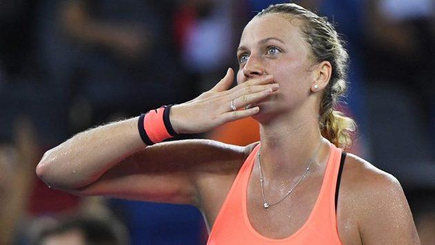 Radost Petry Kvitové, na turnaji ve Wu-chanu postoupila už do semifinále.