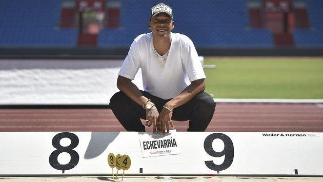 Kubánský dálkař Juan Miguel Echevarría v Ostravě.