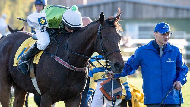 Žokej Marek Stromský skončil ve Velké pardubické s koněm Hegnusem na druhém místě.