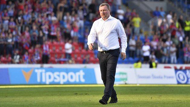 Hlavní trenér Viktorie Plzeň Pavel Vrba si po utkání s Duklou v úvodním kole fotbalové ligy vychutnával aplaus fanoušků.