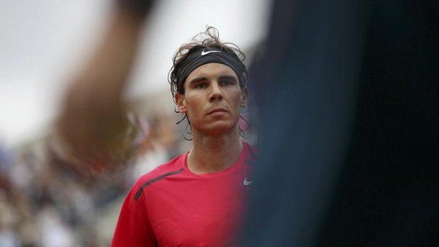 Tenista Rafael Nadal během utkání s Monakem na French Open