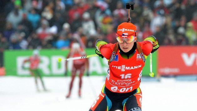Veronika Vítková na trati v německém Oberhofu