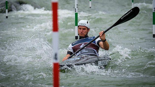 Kajakář Vít Přindiš na archivním snímku z finále Světového poháru ve vodním slalomu.