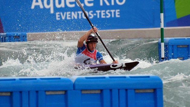 Podmínky v Riu už si vyzkoušela i česká kajakářka Kateřina Kudějová (na snímku z 27. listopadu) při testovacím závodu.