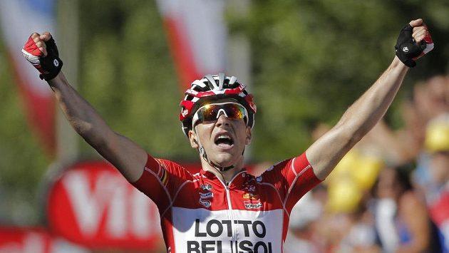 Tony Gallopin si v Oyonnax připsal první etapvý triumf v tomto ročníku Tour de France.