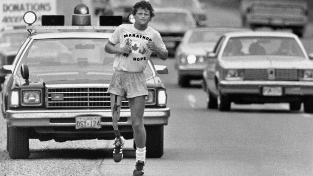 Terry Fox na cestě za svým snem.