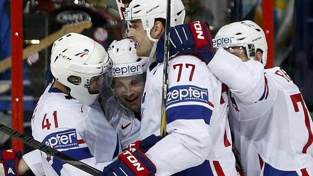 Radost hokejistů Francie.