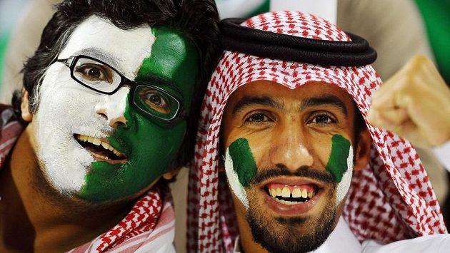Fanoušci fotbalistů Saúdské Arábie - ilustrační foto.