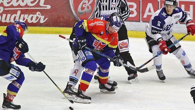 Hokejisté Motoru České Budějovice mohou slavit po výhře nad Havířovem 3:0 postup do semifinále play off první ligy.