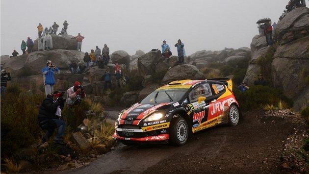 Martin Prokop s Fordem Fiesta WRC na trati Argentinské rallye (ilustrační foto).
