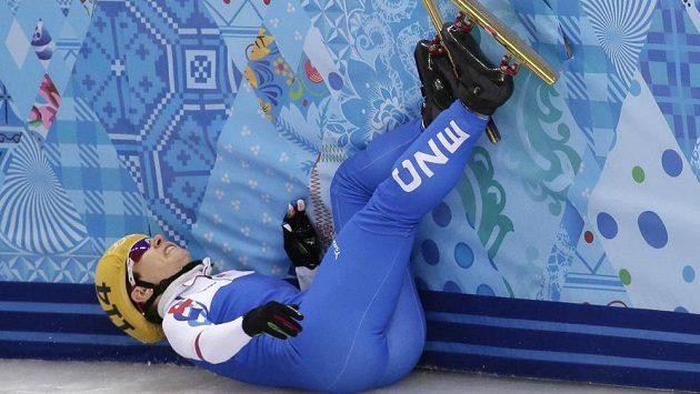 Kateřina Novotná na kilometrové trati neuspěla, v rozjížďce upadla.