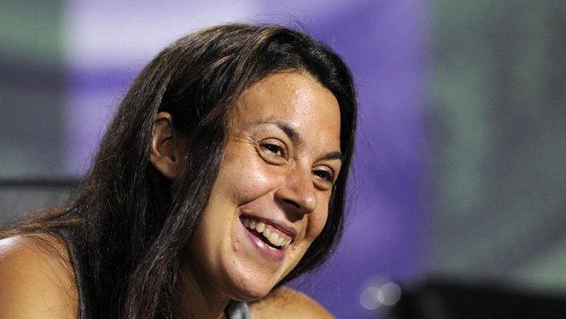 Francouzská tenistka Marion Bartoliová po výhře v londýnském Wimbledonu.