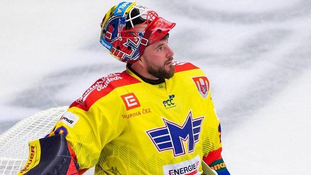 Brankář Budějovic Marek Čiliak.