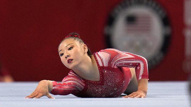 Americká gymnastka Kara Eakerová