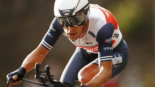 Australský cyklista Richie Porte na letošní Tour de France ještě v týmu Trek-Segafredo.