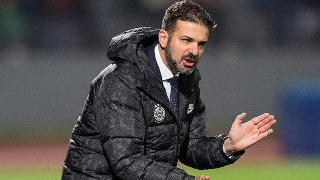 Trenér Sparty Andrea Stramaccioni v akci...