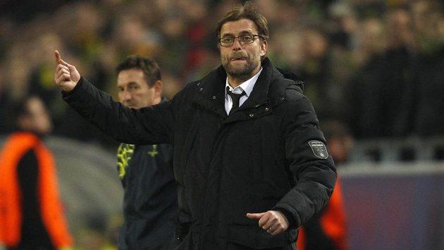 Kouč Dortmundu Jürgen Klopp během osmifinálového duelu Ligy mistrů se Šachtarem Doněck.