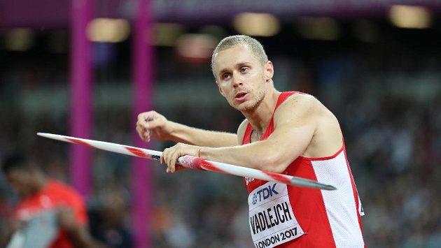 Jakub Vadlejch ve finále MS v Londýně.