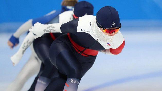 Nikola Zdráhalová (vpředu) a Martina Sáblíková na tréninku před zahájením zimních olympijských her v jihokorejském Pchjončchangu.