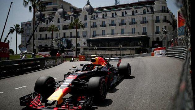 Daniel Ricciardo během kvalifikace v Monte Carlu.