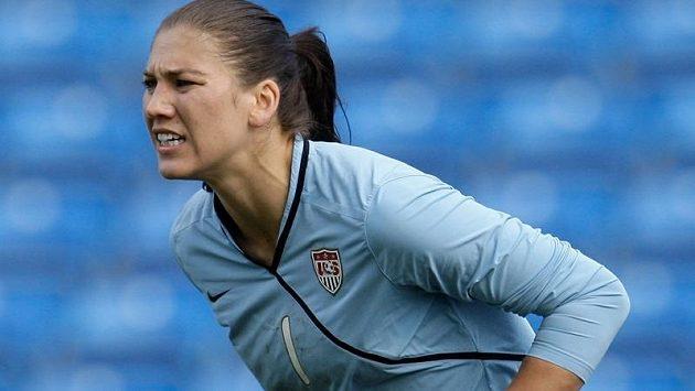 Brankářka americké fotbalové reprezentace Hope Solová.