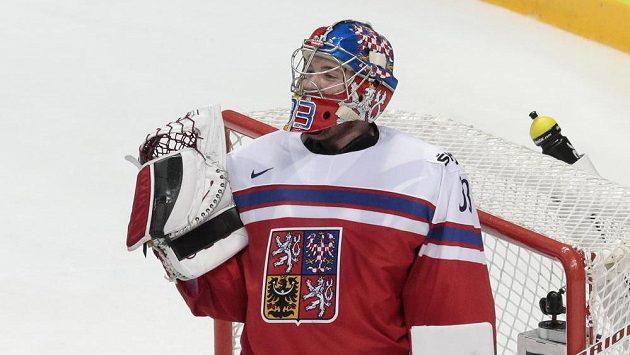 Pavel Francouz nastoupí v brance českých hokejistů proti Kazachstánu.