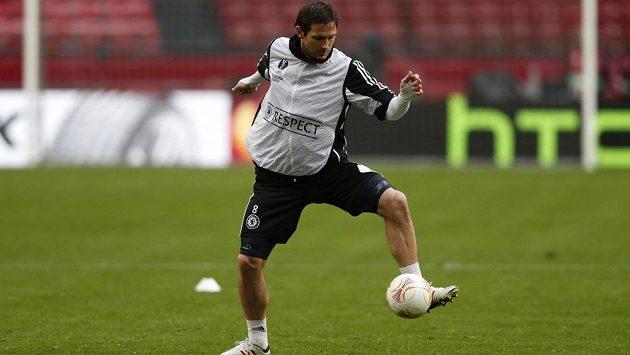 Frank Lampard na tréninku před finále Evropské ligy s Benfikou.