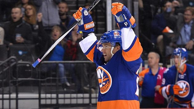 Radost obránce New Yorku Islanders Marka Židlického.
