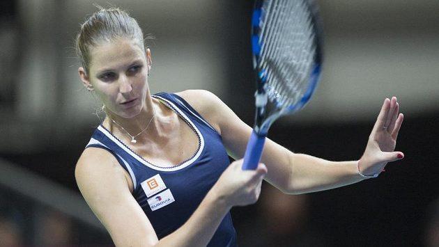 Karolína Plíšková při Fed Cupu.