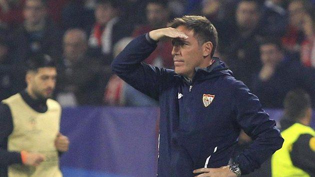 Kouč Sevilly Eduardo Berizzo v duelu s Liverpoolem.