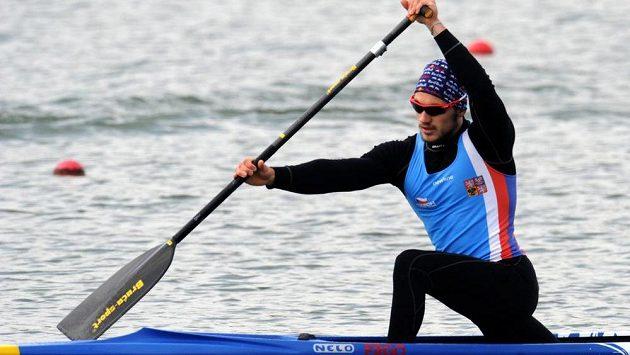 Kanoista Martin Fuksa na mistrovství Evropy v rychlostní kanoistice v Račicích na Litoměřicku.