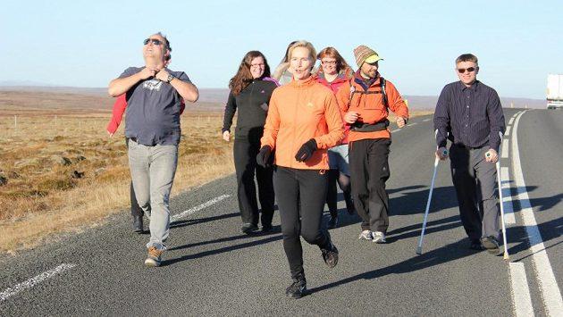 Na Islandu si se mnou přišli zaběhat i jedinci o francouzských berlích.