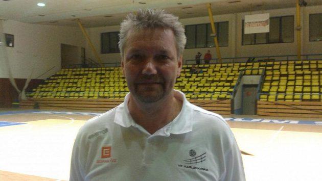 Trenér volejbalistů Ústí Petr Brom.