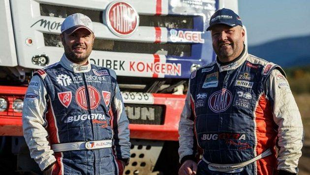 Martin Kolomý (vpravo) a Aleš Loprais na archivním snímku.