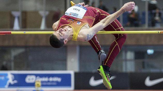 Výškař Jaroslav Bába na halovém mistrovství ČR v atletice.