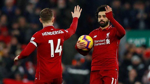 Salah slaví branku do sítě Crystal Palace