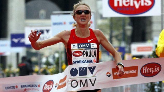 Paula Radcliffeová na maratónu ve Vídni.