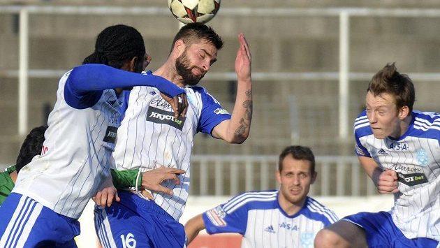 Střelec tří gólů v zápase proti Jablonci, útočník Václav Vašíček ze Znojma.