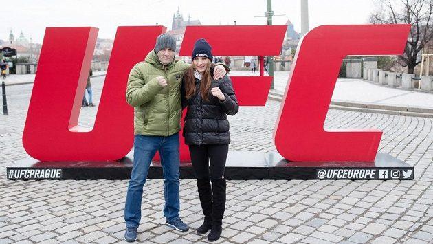 Lucie Pudilová a její trenér Ladislav Erdélyi.